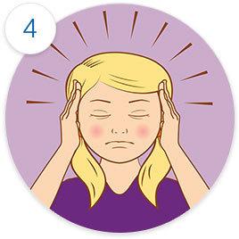 Klagar över huvudvärk
